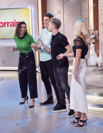 Christine Lampard, Curtis Pritchard, AJ Pritchard and Abbie Quinnen