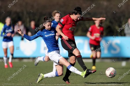 Stock Picture of Danielle Turner of Everton Women and Jess Sigsworth of Manchester United Women FC