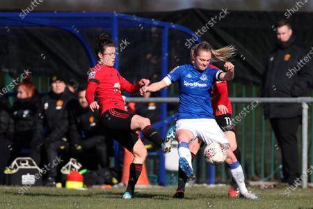 Editorial photo of Everton Women v Manchester United Women, Barclays FA Women's Super League, Football, Walton Hall Park, UK - 23 Feb 2020