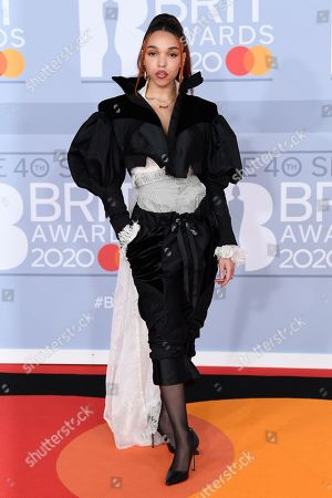 Editorial photo of 40th Brit Awards, Arrivals, Fashion Highlights, The O2 Arena, London, UK - 18 Feb 2020