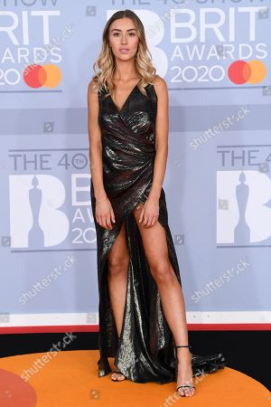 Editorial picture of 40th Brit Awards, Arrivals, Fashion Highlights, The O2 Arena, London, UK - 18 Feb 2020