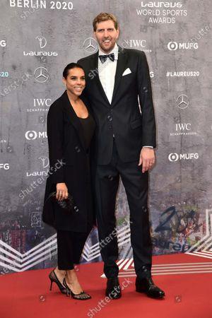 Stock Photo of Dirk Nowitzki und Ehefrau Jessica Olsson