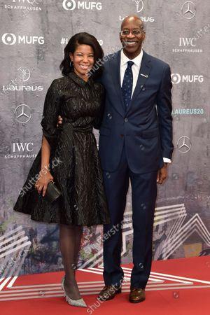 Edwin Moses und Ehefrau Michelle
