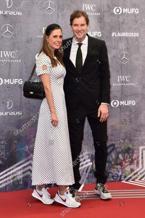Stock Picture of Jens Lehmann und Ehefrau Conny