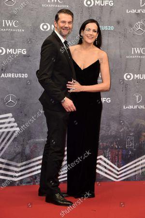 Stock Photo of Bettina Zimmermann und Freund Kai Wiesinger