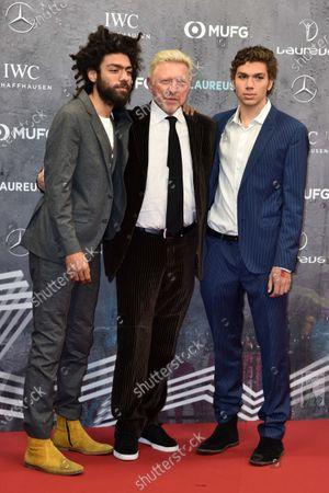 Boris Becker (mi) und Sshne Noah Becker und Elias Becker