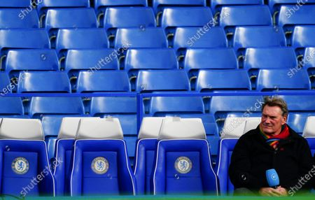 Glenn Hoddle looks on from the away dugout