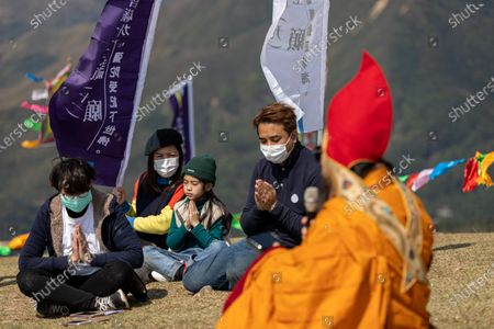 Editorial image of Buddhist prayer ceremony held in response to Covid-19 infections and deaths, Hong Kong, China - 18 Feb 2020