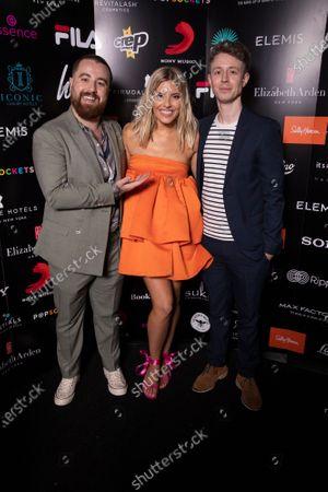 Mollie King, Matt Edmondson and guest