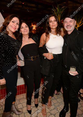 Stock Photo of Elena Baccini, Susan Young, Hannah Young and Roberto Simic