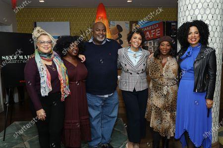 Stock Photo of Kassi Lemmons, Nicole Asher Jefferson, Gil L. Robertson IV, Elle Johnson, Bevy Smith, Janine Sherman Barrois