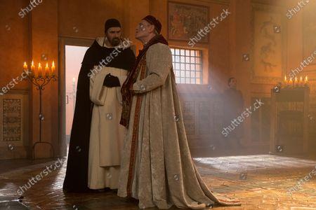 Tcheky Karyo as Papa Giovanni XXII and Rupert Everett as Bernard Gui
