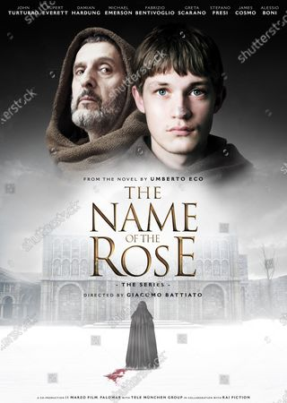 The Name of the Rose (2019) Poster Art. John Turturro as William of Baskerville and Damian Hardung as Adso