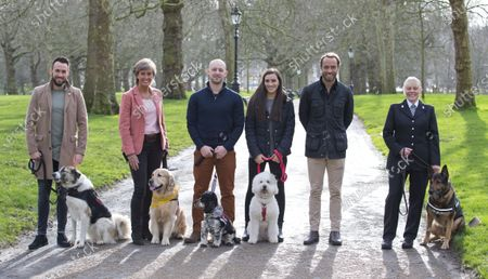Friends for Life finalists (L to R) Barrie and Sean Laidlaw, Leo and Lyndsey Uglow, Jovi and Graham Sage, Ellie and Hayley Byrne-Ingle, James Middleton and Wolfie and PC Louise McMullen