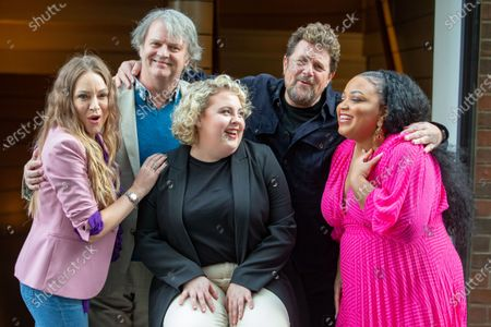 The cast of 'Hairspray the Musical' pose for photos ahead of the opening of the Musical on April 23rd. L to R Rita Simons, Paul Merton, Lizzie Bea, Michael Ball and Marisha Wallace. Paul Merton will be making his West End debut as Wilbur Turnblad.