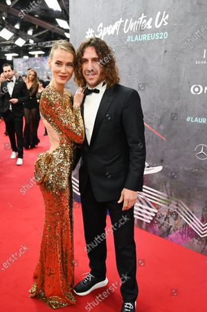 Stock Image of Carles Puyol and Vanessa Lorenzo