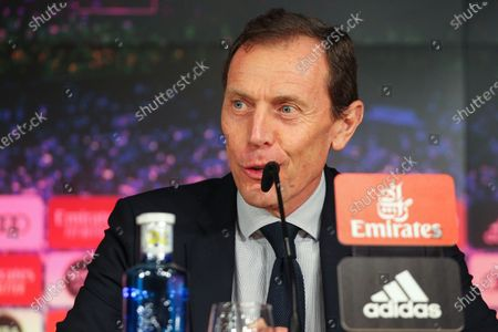 Emilio Butragueno in press conference during Reinier Jesus Carvalho presentation as a new Real Madrid CF player at Santiago Bernabéu