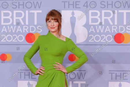 Nicola Roberts arrives for the Brit Awards 2020 at the O2 Arena in London, Britain, 18 February 2020.