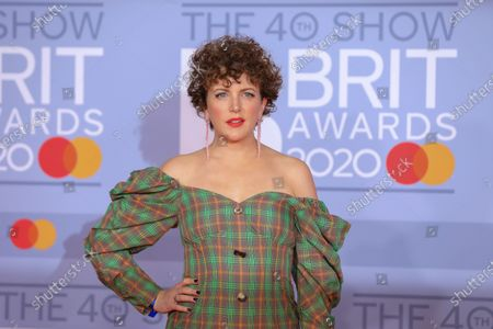 Irish DJ Annie Mac arrives for the Brit Awards 2020 at the O2 Arena in London, Britain, 18 February 2020.