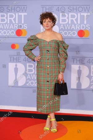 Stock Image of Irish DJ Annie Mac arrives for the Brit Awards 2020 at the O2 Arena in London, Britain, 18 February 2020.