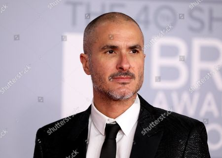 Stock Picture of Zane Lowe poses for photographers upon arrival at Brit Awards 2020 in London