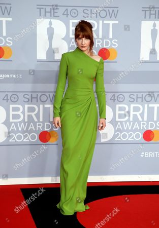 Nicola Roberts poses for photographers upon arrival at Brit Awards 2020 in London