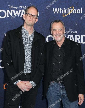 Stock Picture of Pete Docter and Jim Morris