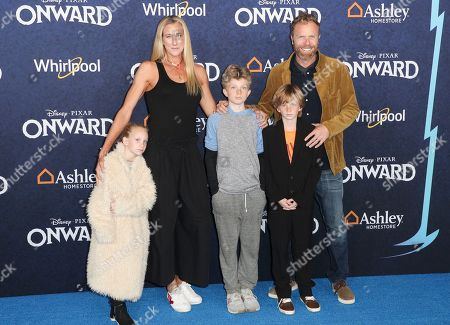 Stock Picture of Kerri Walsh Jennings, Casey Jennings and their family