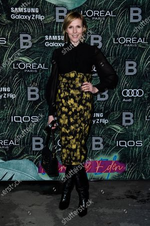 Austrian actress Franziska Weisz attends the PLACE TO B Pre-Berlinale Dinner at Restaurant Tim Raue in Berlin, Germany, 18 February 2020.