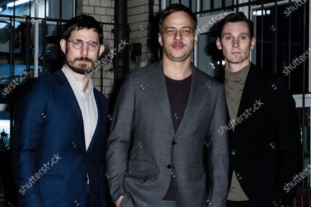 German actor Clemens Schick, German actor Tom Wlaschiha and German actor Rick Okon attend the PLACE TO B Pre-Berlinale Dinner at Restaurant Tim Raue in Berlin, Germany, 18 February 2020.