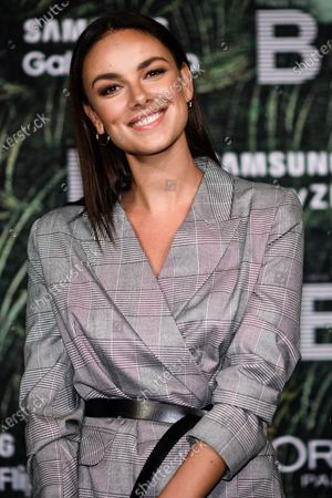 German actress Janina Uhse attends the PLACE TO B Pre-Berlinale Dinner at Restaurant Tim Raue in Berlin, Germany, 18 February 2020.