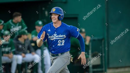 UC Santa Barbara's Kyle Johnson during an NCAA baseball game, in Sacramento, Calif