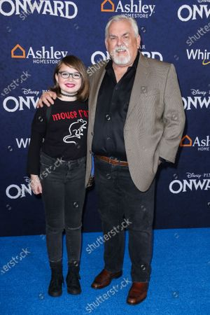 Stock Photo of John Ratzenberger and guest