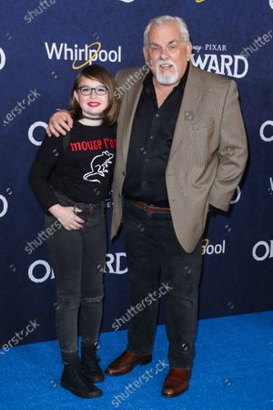 Stock Image of John Ratzenberger and guest
