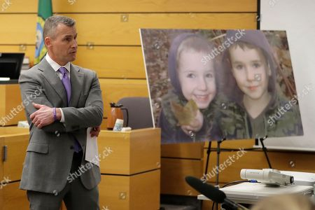 Stock Photo of Ted Buck, an attorney for Chuck and Judy Cox, the parents of missing Utah woman Susan Cox Powell and the grandparents of Susan's sons Charlie and Braden, who were attacked and killed by their father Josh Powell in 2012 while he was under suspicion for Susan Powell's disappearance, makes his opening arguments, in Pierce County Superior Court in Tacoma, Wash., on the first day of a civil lawsuit over the murder of her young sons by Josh Powell. The Coxes allege that negligence by the Washington state Department of Social and Health Services was a contributing factor that led to the deaths of their grandsons