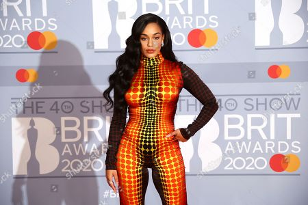 Jorja Smith poses for photographers upon arrival at the Brit Awards 2020 in London