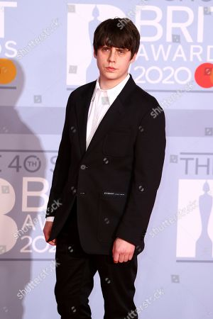 Jake Bugg poses for photographers upon arrival at the Brit Awards 2020 in London