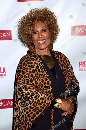 """In this Feb. 17, 2013, photo, Ja'Net DuBois attends Los Angeles Premiere of """"Free Angela and All Political Prisoners"""" at Pan African Film Festival at Rave Cinemas Baldwin Hills in Los Angeles, California. DuBois, who played the vivacious neighbor Willona Woods on """"Good Times"""" and composed and sang the theme song for """"The Jeffersons,"""" has died. Police in Glendale, Calif., said they received a report about DuBois' death late . She appeared to have died of natural causes and no investigation is ongoing, police Sgt. Dan Stubbs said"""