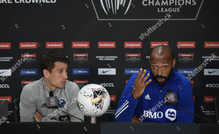 Walter Centeno. Forward Bojan Krkic, left, of the Montreal Impact listens as head coach Thierry Henry speaks during a press conference ahead of Wednesday's CONCACAF Champions League soccer match against Deportivo Saprissa, in San Jose, Costa Rica