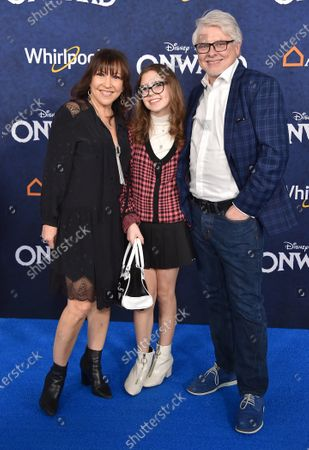 Stock Picture of Dave Foley, Crissy Guerrero and Alina Foley