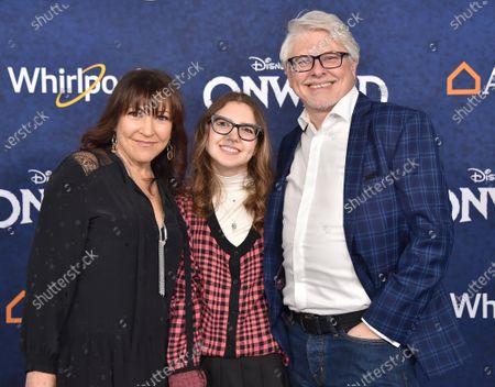 Stock Photo of Dave Foley, Crissy Guerrero and Alina Foley