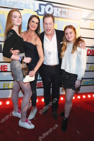 Brooke Shields, Chris Henchy, Rowan Henchy and Grier Henchy