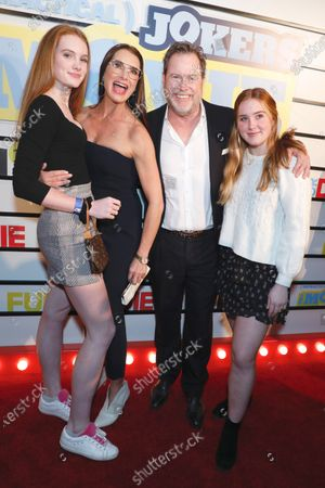 Brooke Shields, Chris Henchy, Rowan Henchy and Grier Henchy