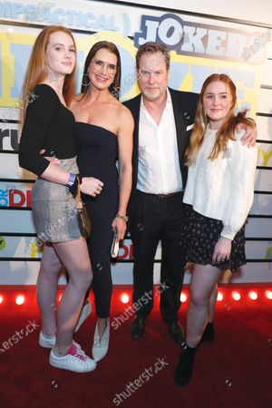 Stock Image of Brooke Shields, Chris Henchy, Rowan Henchy and Grier Henchy