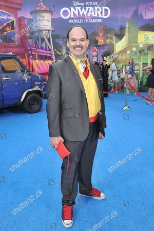 """Stock Photo of Mel Rodriguez attends the world premiere of """"Onward"""" at the El Capitan Theatre, in Los Angeles"""