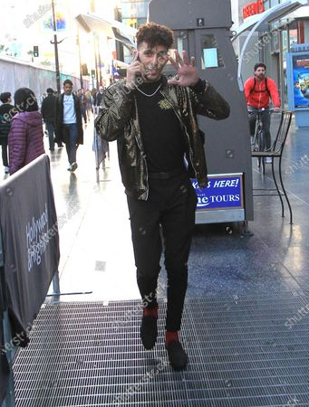 Editorial image of Khleo Thomas out and about, Los Angeles, USA - 18 Feb 2020