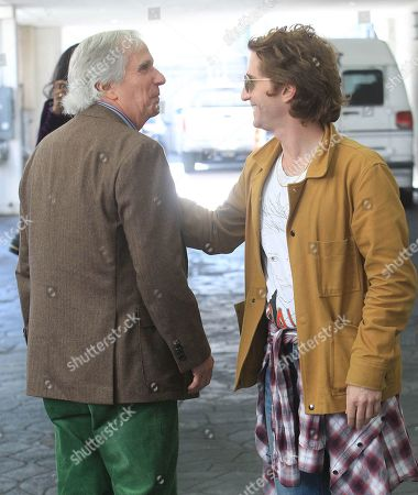 Stock Picture of Henry Winkler and Max Winkler