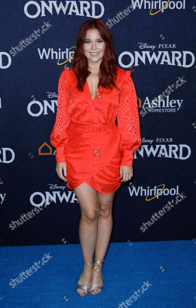 """Erin Robinson arrives at the World Premiere of """"Onward"""" at El Capitan Theatre, in Los Angeles"""