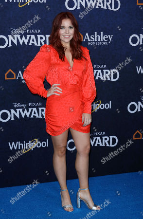 """Stock Image of Erin Robinson arrives at the World Premiere of """"Onward"""" at El Capitan Theatre, in Los Angeles"""