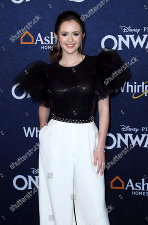 "Olivia Sanabia arrives at the World Premiere of ""Onward"" at El Capitan Theatre, in Los Angeles"